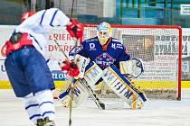 Mladý hodonínský gólman Ondřej Haloda inkasoval v Kopřivnici tři branky, Drtiči přesto na ledě loňského nováčka zvítězili 5:3.