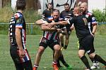 Fotbalový stadion Sokola v Rybářích v sobotu zažil jednu velkou sportovní premiéru. V Hodoníně se totiž vůbec poprvé uskutečnil mezinárodní turnaj v ragby, který uspořádal nedávno vzniklý tým Black Angels.