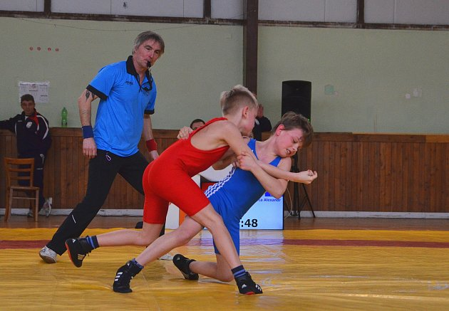 Tým Sokola Hodonín ovládl soutěže družstev na mistrovství České republiky žáků a juniorů vzápase řecko-římském.