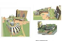 Vizualizace nového pavilonu hodonínských lázní.
