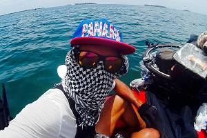 Hodonínský cestovatel Matěj Balga u panamských břehů.