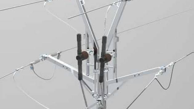 Nový typ konzoly na sloupy vysokého napětí použili energetici poprvé u Lužic.