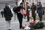 U Masarykovy sochy v Hodoníně si lidé připomněli 164. výročí narození prvního československého prezidenta.