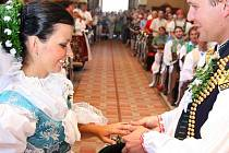 Krojovaná svatba 21.8.2010 Strážnice.