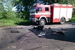 Pondělní tragická nehoda na silnici mezi Lužicemi a Břeclaví.