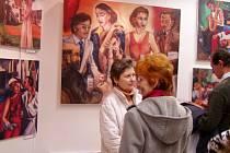 Výstava obrazů Karla Gotta v Kyjově