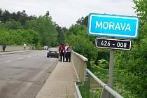 Rozvodněná Morava u bzeneckého Přívozu