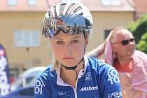 Vnorovská běžkyně Tereza Korvasová podala v cyklistické časovce velmi dobrý výkon. Mezi ženami skončila šestá.