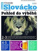 Titulní strana týdeníku Slovácko z 3. dubna.