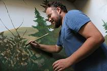 Petr Přikryl vymaloval ubikace pro hodonínské tygry.