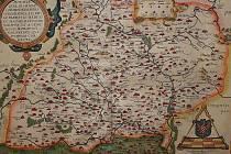 Ortellova mapa Moravy z roku 1573.