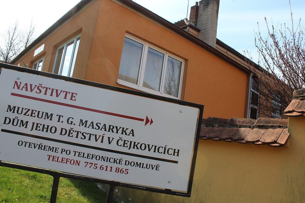 Masarykův domek v Čejkovicích.