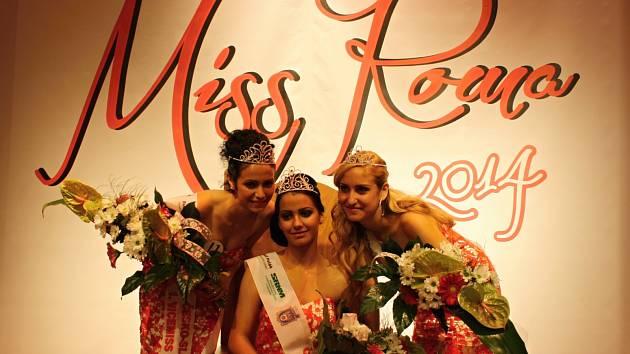 Finálová trojice Miss Roma 2014.