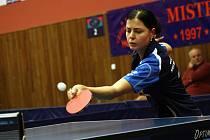 Hodonínská stolní tenistka Kateřina Pěnkavová.