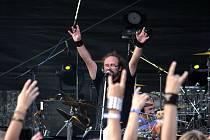Na druhém ročníku Rockfestu, který se konal v sobotu ve Strážnici, se mimo jiné představila také kultovní kapela Horkýže slíže.