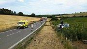 Tři auta, dvě osobní a jedno nákladní, se srazila v úterý odpoledne na silnici I/54 u Sobůlek. Foto: hasiči JMK