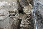 Objev jižní části veselských městských hradeb.