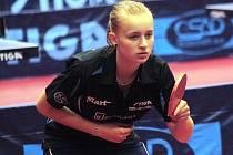 Mladá hodonínská stolní tenistka Barbora Kapounová získala na bodovacím turnaji dorostenek v Hustopečích zlatou medaili.