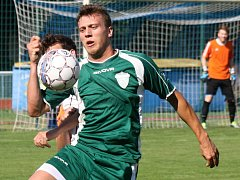 Dubňanský útočník Michal Soldán se v zápase s vyškovskou rezervou střelecky neprosadil. Baník doma prohrál 0:1.