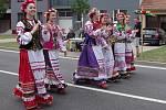 Strážnice o víkendu žila třiasedmdesátým folklorním festivalem. Mezi zahrančními hosty se v průvodu představil i soubor z Ruska.