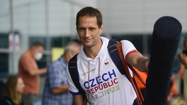 Oštěpař Vítězslav Veselý na olympiádě v Tokiu.