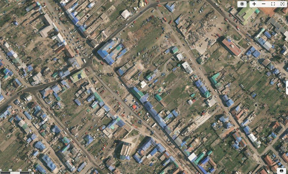 Letecké snímkování tornádem zasažené oblasti společností TopGis.