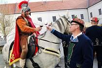Na čejkovický zámek jako tradičně přijel sv. Martin.