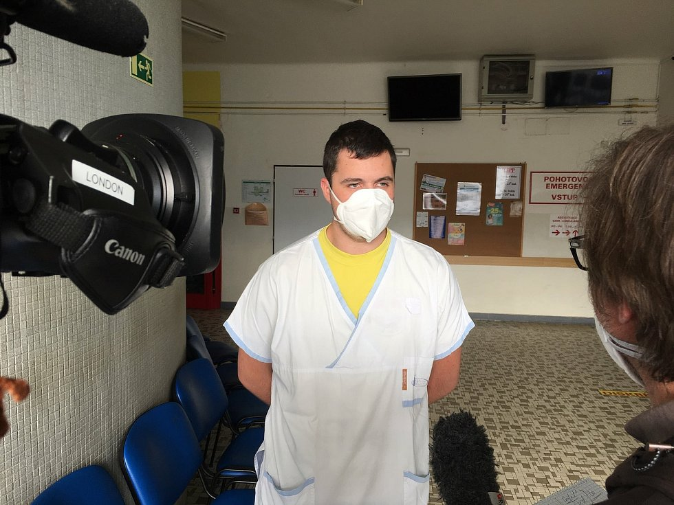 Štáb tiskové agentury Associated Press zavítal do kyjovské nemocnice.