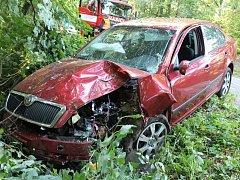 V úterý boural devětapadesátiletý muž mezi Archlebovem a Žádovicemi. Škoda na autě je sto dvacet tisíc korun.