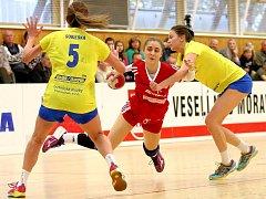 Házenkářky Veselí nad Moravou v play-out prohrály i druhé utkání a s jediným bodem zůstávají v tabulce tři týmů poslední.