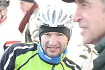 Český cyklista Jan Bárta zakončil rok 2014 tradiční silvestrovskou projížďkou okolo Kyjova.
