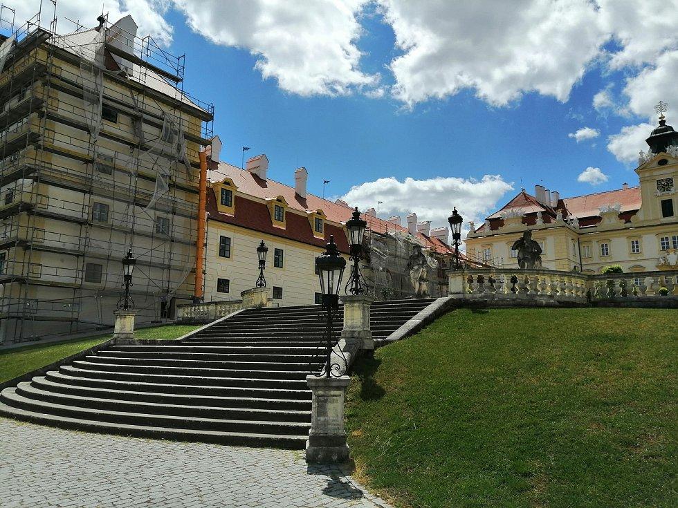 Zámek ve Valticích na Břeclavsku.