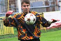 Mutěnický gólman Filip Kratochvíla se sice na Vysočině snažil, ale další porážce vinařů nezabránil.