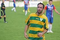 Zkušený mutěnický útočník Dalibor Koštuřík odehrál zápas v Napajedlech na pozici stopera.
