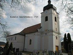 Římskokatolický kostel svatého Jana Křtitele v Hovoranech.