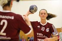 Mladá veselská házenkářka Dagmar Lukšíková (na snímku) skórovala v zápase Českého poháru žen proti druholigovým Bohunicím pouze jednou.