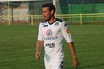 Záložník Filip Hlúpik byl nejlepším hráčem Slovácka v přípravném zápase proti slovenským Košicím.