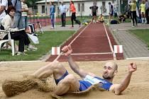 Hodonínští atleti předvedli na stadionu U Červených domků skvělé výkony. V domácím prostředí nezklamal ani dálkař Lukáš Lípa (na snímku).