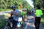 Nová preventivní akce hodonínských strážníků Na kole bezpečně, tentokrát na cyklostezce mezi Hodonínem a Dubňany.