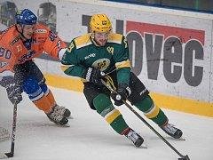Hodonínští hokejisté ztratili Na Lapači vedení 2:1 a s favorizovaným Vsetínem ve třetím semifinále druhé ligy východní skupiny prohráli 2:5.