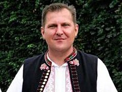 Kapelník Skoroňáků Petr Mikliš.
