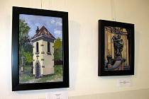 Obrazy z výstavy ve Ždánicích.