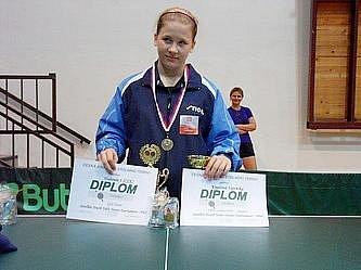 Hodonínská stolní tenistka Veronika Kmeťová.