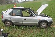 Felicie havarovala na silnici mezi Polešovicemi a Moravským Pískem.