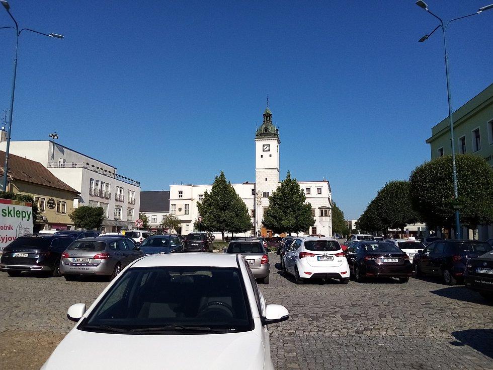 Masarykovo náměstí v Kyjově.