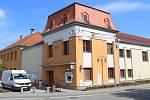 Oprava věží orlovny v Čejkovicích.
