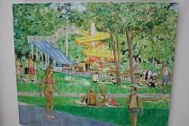 Obrazy z mezinárodního sympozia Malý formát v Hodoníně.