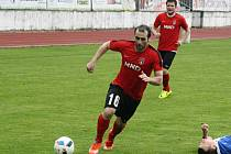 Na přesvědčivé výhře Hodonína v Pelhřimově 3:0 se podílel také záložník Radek Sasín (na snímku).
