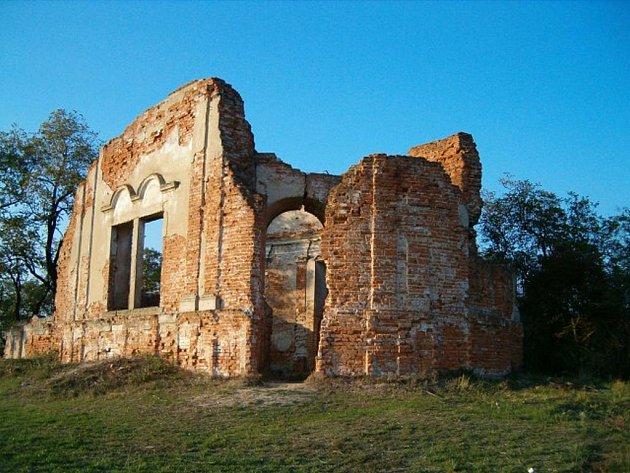Zbořeniště bzenecké kaple z roku 1703