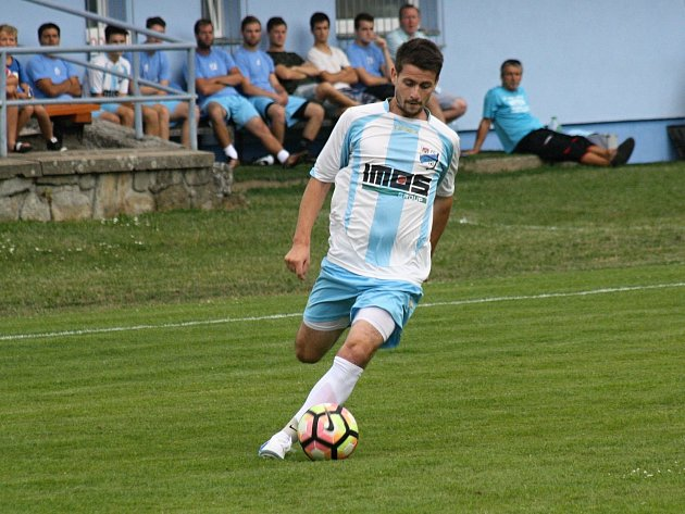 Veselský záložník Aleš Radmil měl v zápase se Svratkou Brno dvě šance, gól ale nedal.